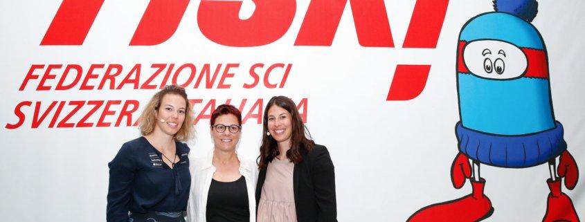 Michelle Gisin, Michela Figini e Dominique Gisin